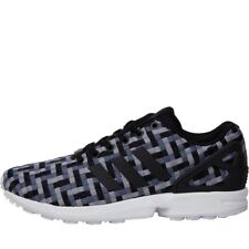 buy online e2e28 da512 adidas Originals Mens ZX Flux Trainers Onix Core Black Light Onix