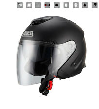 Nzi - Casco jet Avenew Duo Matt Black negro mate