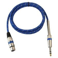 Cable 1/4'' de 6,5 mm Conector Audio Micrófono XLR 3 Pines Macho A Hembra Mic