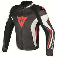 Dainese | Assen Giacca in pelle Moto Nero Rosso Leather Jacket Black Red