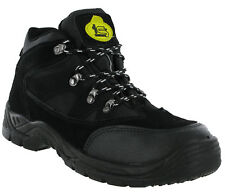 New Mens Black Tradesafe Graham Lace Ups Metal Toe Cap Safety Boots