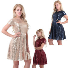 Fashion Women Sequins Short Dress Prom Evening Party Cocktail Bridesmaid Wedding