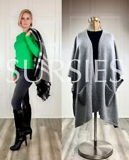 POLO RALPH LAUREN SWEATER or SHAWL Womens 100% Cashmere Green or Grey $398.00
