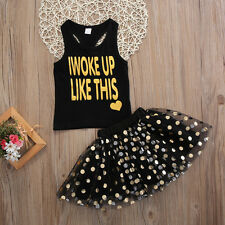 Brand New Summer Spring Girls I Woke Up Like This Party Dress Outfit Clothing