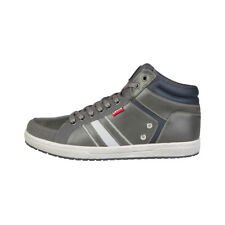 Mens Sneakers Trainers Casual Shoes Levis - 227511_179 Grey High Top Lace Up