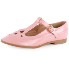 Dolcis Mary Janes T Bar Womens Pink Synthetic Casual Sandals Buckle New Style