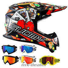 SUOMY Mr. Jump Jackpot Negro CASCO CROSS Casco MX Motocross Cross + HP7 Gafas DH