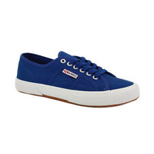 Superga 2750 Cotu Classic Unisex Blue Canvas Casual Trainers Lace-up New Style