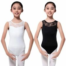 Toddler Baby Girl Lace Floral Leotard Sleeveless Ballet Dance Clothes 4-15 Years