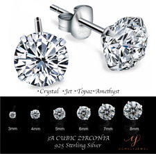 Fashion Jewellery Simulated Diamond Sterling Silver Studs Earrings For Women