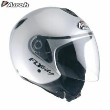 Airoh Fly City Silber Jet City Scooter Motorrad Roller Helm