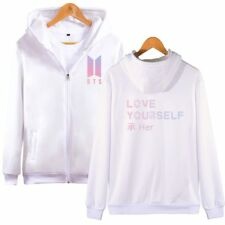 Kpop BTS Bangtan Boys love Yourself Hoodie Jacket JIMIN J-HOPE V SUGA Zip Coat