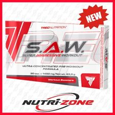 TREC S.A.W. Pre Workout Booster Beta Alanine AAKG Taurine SAW 30 caps Boxed