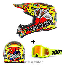 SUOMY Mr. Jump Jackpot AMARILLO CASCO CROSS MX Motocross 100% Gafas S M L