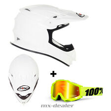 SUOMY Mr. Jump Blanco CASCO CROSS MX Motocross Enduro 100% Gafas S M L