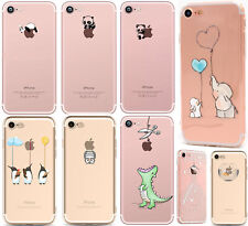 coque gel housse transparent silicone motif pour Apple iPhone hibou dragon