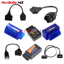 ELM327 OBD2 Bluetooth Wireless Car Diagnostic Scanner + 3Pin 16 22 38 Pin  Cable