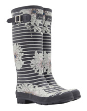 Joules wellyprint Mujer Estampado Wellington - Gris Peonia floral