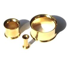 Flesh Tunnel PLUG PIERCING Tapón Acero inox. COLOR ORO 3 mm - 20mm