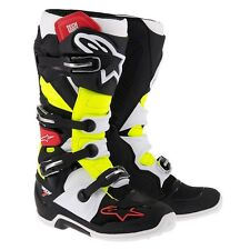 ALPINESTARS Tech7 TECH 7 ARRANQUE NEGRO ROJO NEON MX Motocross Enduro Cross