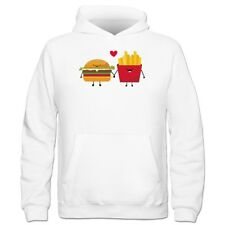 Sudadera con capucha niño Hamburger And French Fries In Love