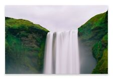 Waterfall Canvas Green Scenery Landscape Wall Art Picture Home Decor