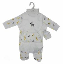 ROCK A BYE BABY Baby Boy or Girl Unisex 5 Pc Safari Gift Set / Layette BNWT