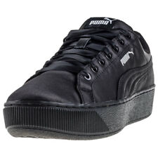 Puma Vikky Platform Ep Womens Black Textile Casual Trainers Lace-up New Style