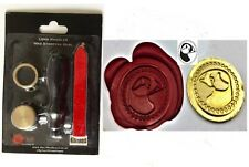 Puffin head Wax Stamp Seal Set Stamping Envelope Invite Craft Manuscipts  347