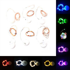 10 LEDs Battery Operated Mini LED Copper Wire String Fairy Lights 1M RWKG