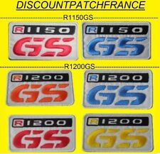 BMW R 1150 GS, R 1200 GS. 9 x 5 cm patch écusson thermo Embroidered aufnaher.