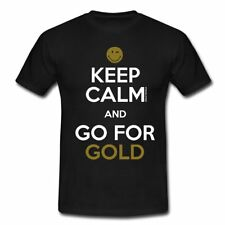 Smiley World Keep Calm Go For Gold Männer T-Shirt von Spreadshirt®