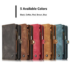 iPhone 6 iPhone 7 Galaxy S7 8 Card Slots Leather Wallet Folio Zipper Case Cover