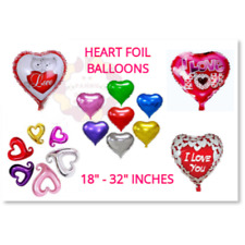 """18""""-32"""" HEART FOIL BALLOONS RED LOVE Romantic Valentines Day Couples baloons"""
