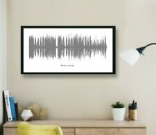 Personalised Song Sound Wave print with 50cm frame