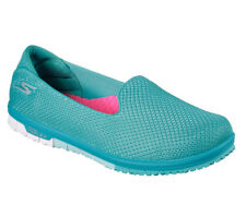 NEW SKECHERS Women Sneakers Slippers GO MINI FLEX - ADMIRE turquoise Fitness