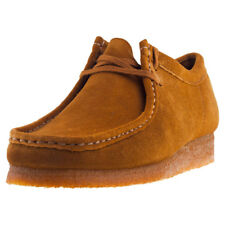 Clarks Originals Wallabee Mens Bronze Suede Casual Shoes Lace-up New Style