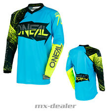 O'NEAL Element Burnout AZUL NEON JERSEY CAMISETA conductor MX Motocross MTB DH