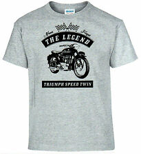 T-SHIRT, TRIUMPH SPEED TWIN , MOTO, Oldtimer, youngtimer