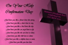 First Holy Communion/Confirmation Gift Personalised God Loves You Poem