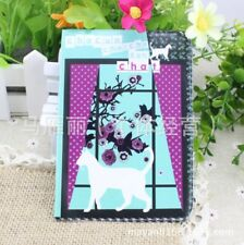Kitten Cats Flowers Cute Passport Cover Travel ID Holder Card Protector Case