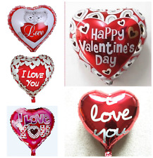 Giant Happy Valentines Day Foil Balloons I Love You Heart His/Her Gifts baloons