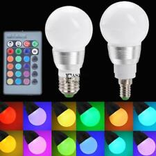 E27/E14 10W RGB LED Light Color Changing Lamp Bulb 85-265V With Remote FNHB