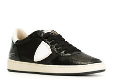 Sneakers basse Philippe Model donna in pelle nero