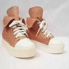 SCARPE DONNA SNEAKERS FASHION STRASS  DECOLTE LACCI ZEPPA INTERNA 4 CM. COMODI