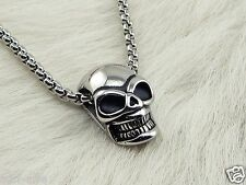 Colgante Calavera COLLAR DE ACERO INOXIDABLE Motero Rock Pop