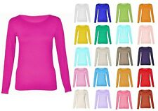 Womens Long Sleeve Scoop Neck Top All Colours & Plus Size