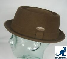Kangol LITE feltro Pork Pie CAPPELLO MARRONE Porkpie Trilby ententeich