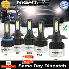 Nighteye 9005|9006|H7|H4|H11 72W 9000LM LED Headlight Kit Fog Bulbs DRL White UK