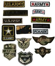 Military Army Airforce Embroidered Military Iron On Patches Badges Transfers